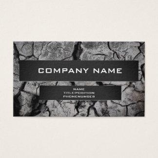 Cartão De Visitas Rocha/cartão de visita rachado do design da lama