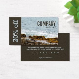 Cartão De Visitas Rochas e surf litorais do oceano: Lealdade: