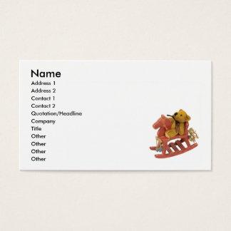 Cartão De Visitas RockingHorseTeddy, nome, endereço 1, endereço 2,…
