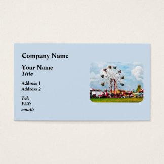 Cartão De Visitas Roda de Ferris contra o céu azul