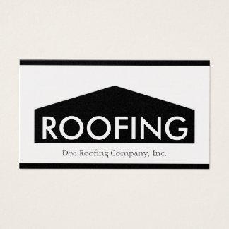 Cartão De Visitas Roofer/ouro de Telhado Empresa