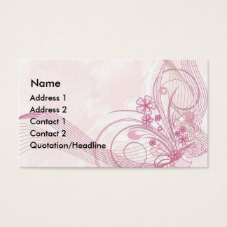 Cartão De Visitas rosa