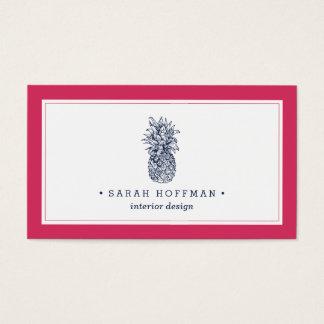 Cartão De Visitas Rosa & abacaxi do marinho