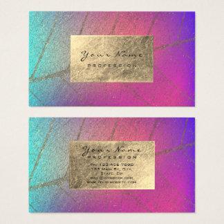 Cartão De Visitas Rosa botânico de Ombre do estúdio da beleza da