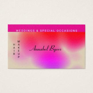 Cartão De Visitas Rosa brilhante ao respingo misturado vermelho da