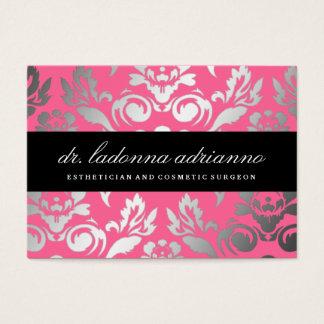 Cartão De Visitas Rosa cor-de-rosa de damasco de 311 Ladonna