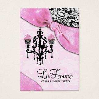 Cartão De Visitas Rosa de 311 bolos de Femme do La