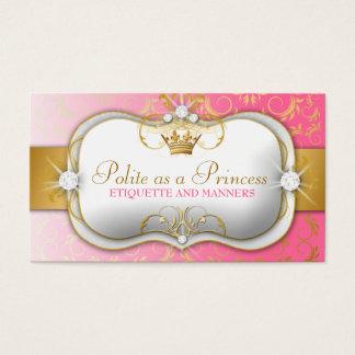 Cartão De Visitas Rosa divino dourado de 311 Ciao Bella