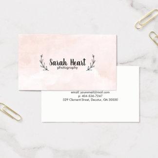 Cartão De Visitas rosa do louro da aguarela