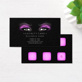 Cartão De Visitas Rosa do preto da beleza do cliente do perfurador