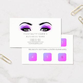 Cartão De Visitas Rosa do salão de beleza do cliente do perfurador