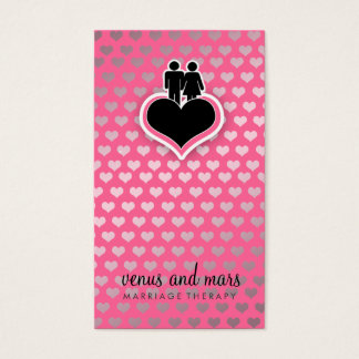Cartão De Visitas Rosa do terapeuta de 311 casamentos
