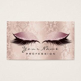 Cartão De Visitas Rosa dos TERMAS do brilho do damasco dos chicotes