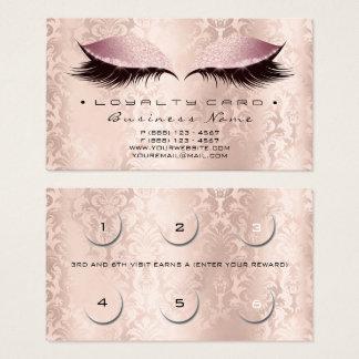 Cartão De Visitas Rosa dos TERMAS do estúdio de Lashe do damasco da