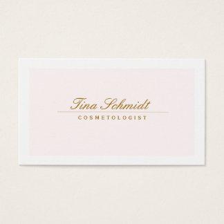 Cartão De Visitas Rosa elegante simples 2 dos termas e do salão de