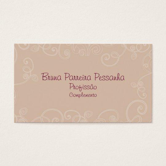 Cartão de visitas Rosa Envelhecido