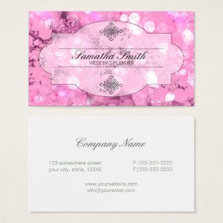 Cartão De Visitas Rosa ID318 do quadro de Bokeh