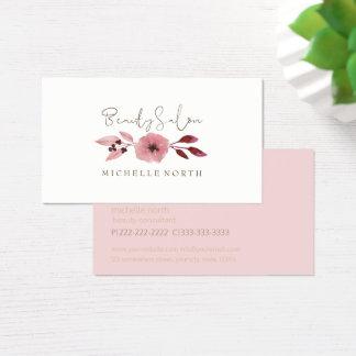 Cartão De Visitas Rosa ID349 do salão de beleza da papoila da
