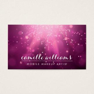 Cartão De Visitas Rosa mágico lunático ETÉREO MODERNO da ameixa de