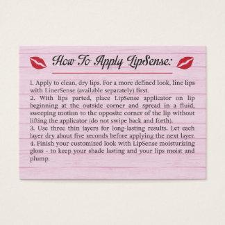 Cartão De Visitas Rosa - pontas & truques - como aplicar - LipSense