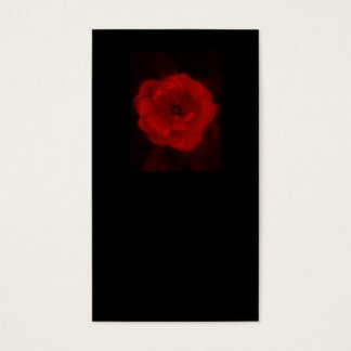 Cartão De Visitas Rosa preta e vermelha