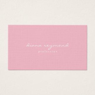 Cartão De Visitas rosa profissional feminino minimalista