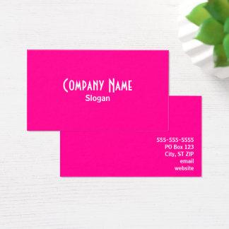 Cartão De Visitas Rosa quente