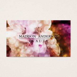 Cartão De Visitas Rosa simples & clássico moderno da beleza
