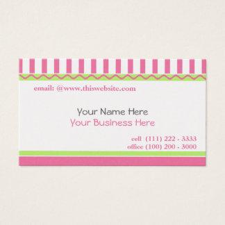Cartão De Visitas Rosa simples e doce