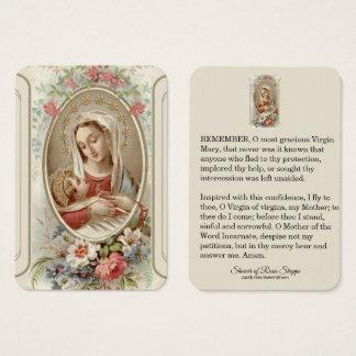Cartão De Visitas Rosas abençoados de Jesus do bebê da mãe