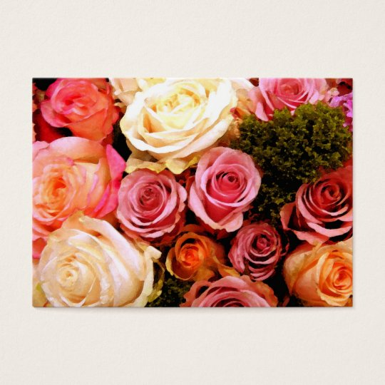 Cartão De Visitas Rosas do love_