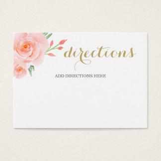 Cartão De Visitas rosas do pêssego do succulent da aguarela que