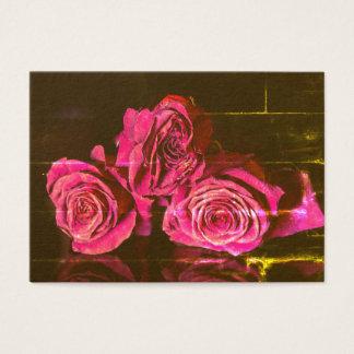 Cartão De Visitas Rosas do vintage