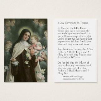 Cartão De Visitas Rosas dos anjos do Novena do crucifixo do St.