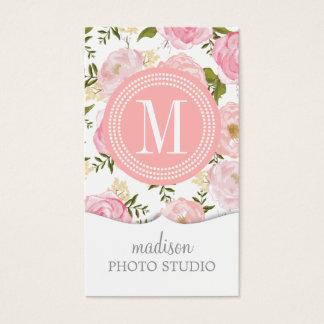 Cartão De Visitas Rosas elegantes do rosa do vintage personalizados