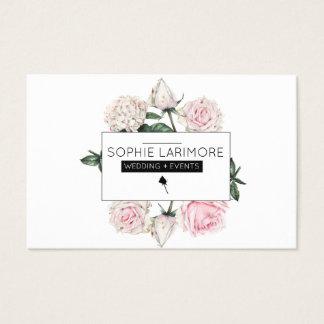 Cartão De Visitas Rosas elegantes do Watercolour do ★