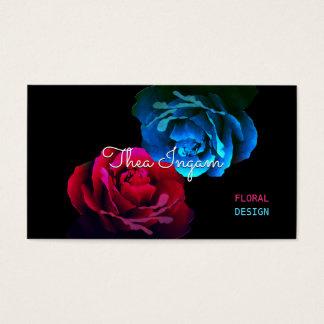 Cartão De Visitas Rosas vermelhos & azuis