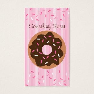 Cartão De Visitas Rosquinha polvilhada rosa