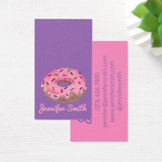 Cartão De Visitas Rosquinhas do cozimento da comida da padaria da