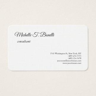 Cartão De Visitas Roteiro branco preto de linho superior luxuoso