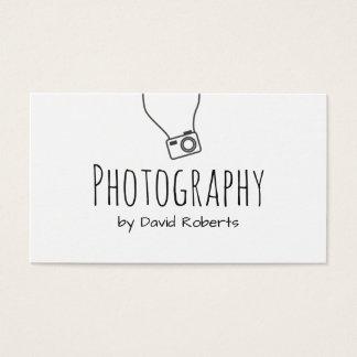 Cartão De Visitas Roteiro da mão do fotógrafo minimalista