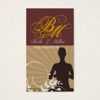 Cartão De Visitas Roteiro espiritual do rico do instrutor da ioga da