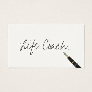 Cartão De Visitas Roteiro livre da escrita do treinador da vida