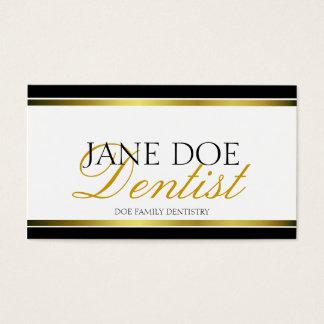 Cartão De Visitas Roteiro metálico do ouro do dentista