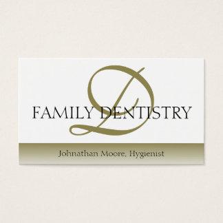 Cartão De Visitas Roteiro oral do cirurgião do escritório dental do