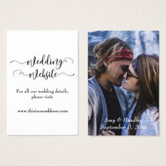 Cartão De Visitas Roteiro preto do Web site | do casamento & sua