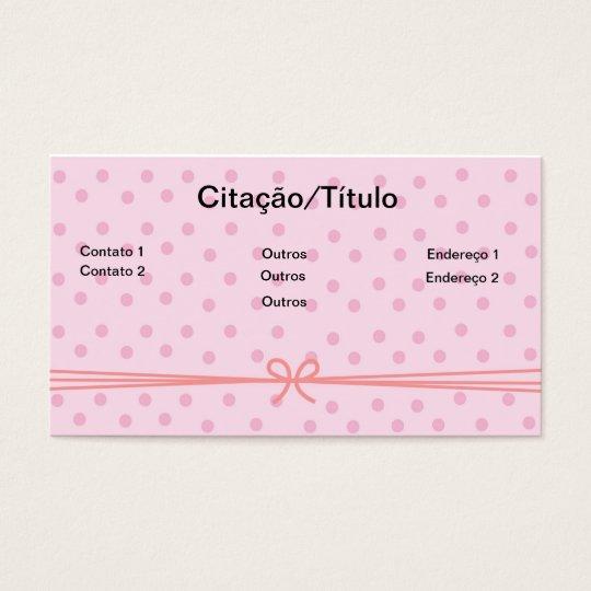CARTÃO DE VISITAS ROUPAS FEMININAS