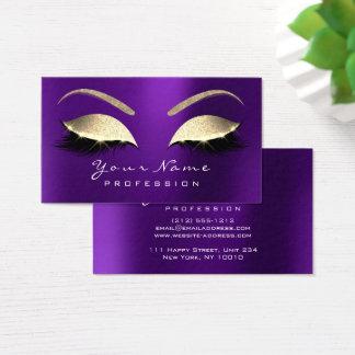 Cartão De Visitas Roxo da lavanda do brilho dos chicotes dos olhos