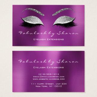 Cartão De Visitas Roxo da prata do brilho dos chicotes da