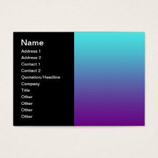 Cartão De Visitas Roxo simples do azul de turquesa do inclinação do